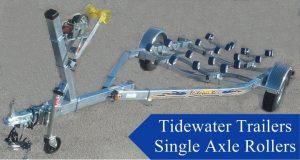 Single axle roller Tidewater Trailer