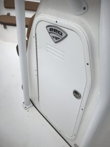 Tidewater Boats 220 CC head Compartment